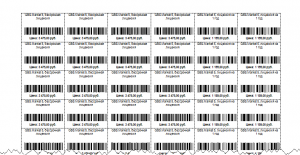 Шаблон этикеток со штрих-кодом на листе А4 GBS.Market