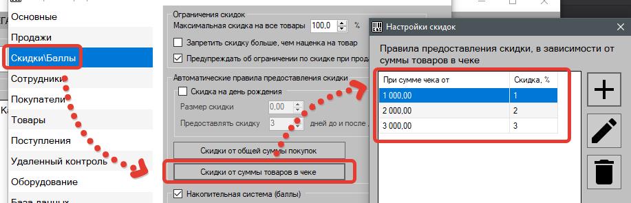 Настройка дисконта в программе GBS.Market - автоматизация торговли в зависимости от суммы товаров в чеке