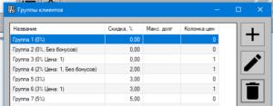 GBS.Market, группы покупателей
