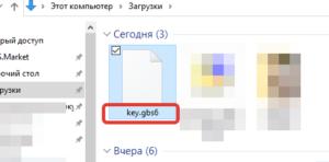 Файл ключа лицензии программы GBS.Market - автоматизация торговли