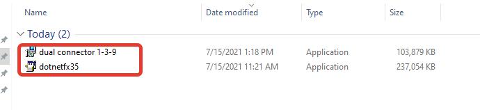 Файлы установки Dual Connector и .net Framework 3.5