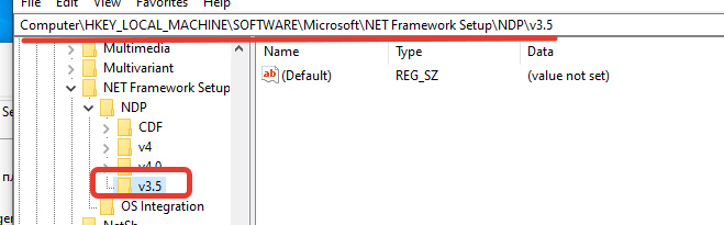 Ветка реестра для .net framework 3.5