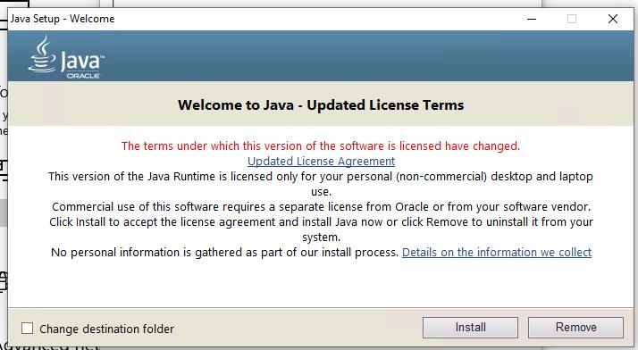 Процесс установки платформы Java